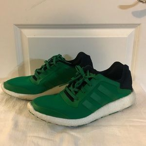 ADIDAS Boost Green White Running Shoes 12.5